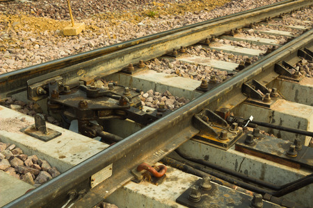 A railway track switch in Thailand