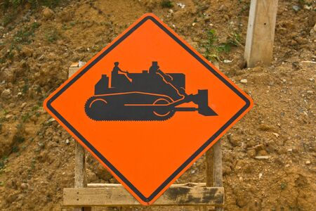 redirection: Under reconstruction road signs Stock Photo