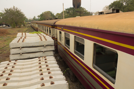third wheel: Bogie Third Class Carriage and concrete sleepers