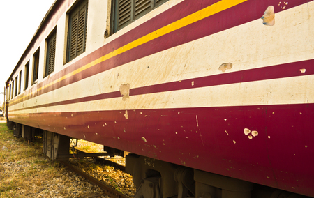bogie: Bogie Third Class Carriage train of Thailand