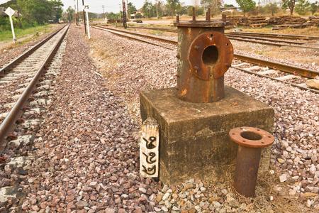 steam locomotives: Abandoned railway water pump for steam locomotives