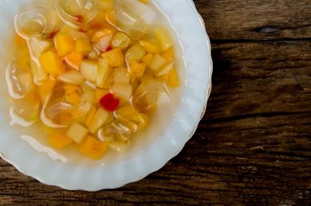 canned fruit  Stok Fotoğraf