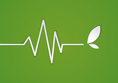 cardiogram: Abstract heart beats cardiogram plant illustration - vector Illustration