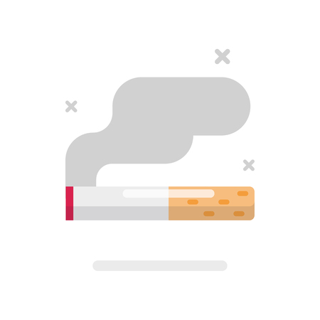 Smoking cigarette icon, smoking concept, Vector flat design illustration.