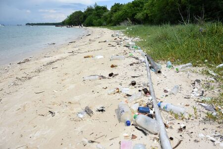 sea water pollution on the koh samaesarn#8 写真素材