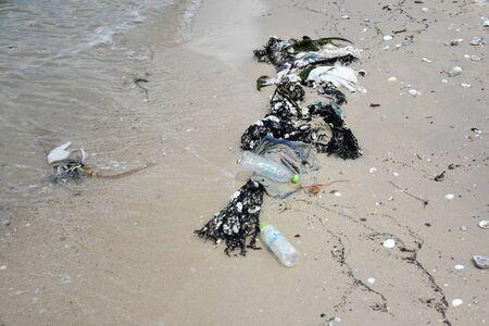 sea water pollution on the koh samaesarn#3 写真素材