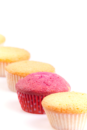 abstract leadership sown in cupcakes