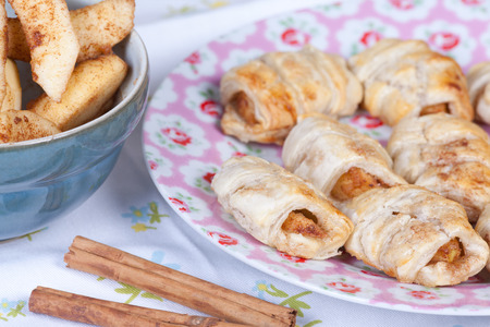 turnover: apple turnover cookies with cinnamon and puff pastry.