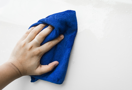 microfiber: blue microfiber cloth for cleaning car
