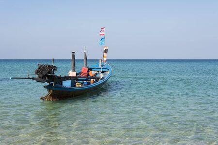 andaman sea: Longtale boat at the beach in phuket ,Andaman Sea, Thailand