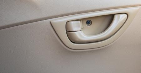 palanca: Palanca para abrir la puerta del coche. Foto de archivo
