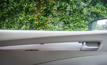 palanca: Palanca para abrir la puerta del coche con ventanas vista Foto de archivo