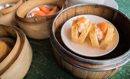 tofu fish in Dim Sum basket