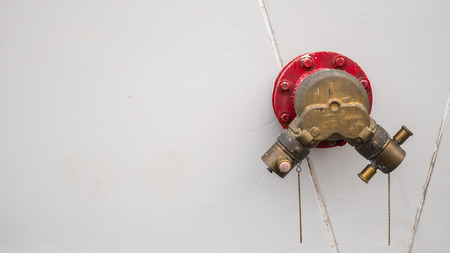fire hydrant for Fire truck on wall. Stock Photo