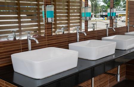 wash basin: Group of wash basin in resort
