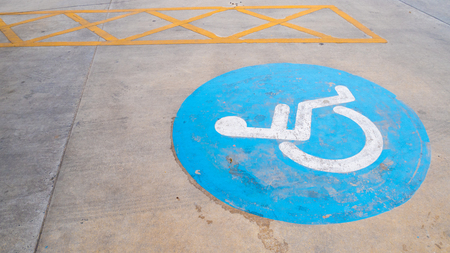 Disable parking on the road at parking area.