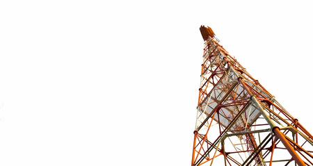 Tour de télécommunication sur fond blanc, Tracé de détourage
