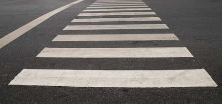 raod: crosswalk on the raod in the city