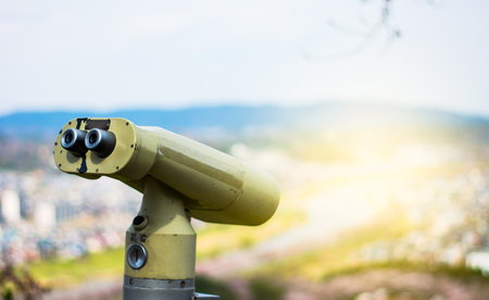 Binoculars are available for touris  On the point of view