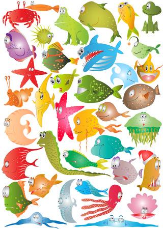 there are fish cartoon characters Фото со стока - 6477612
