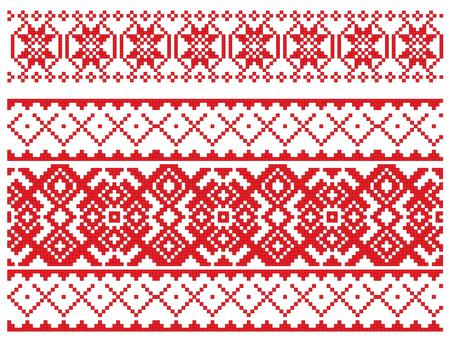 existe un plan de patr�n ruso para bordado  Foto de archivo - 6565295