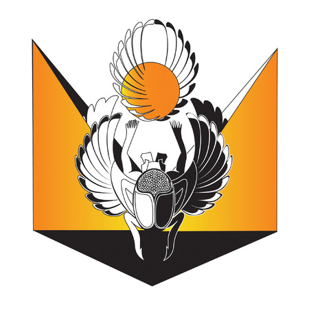 scarabeo: vi � un simbol scarabeo di sole d'Egitto