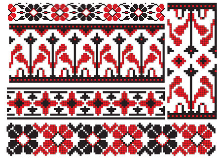 and tradition: there is a scheme of ukrainian pattern for embroidery