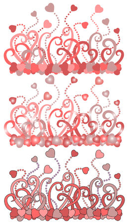 valentineday: there are flowers backgrounds with hearts Illustration