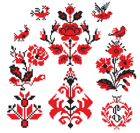 traditions: there is a scheme of ukrainian pattern for embroidery