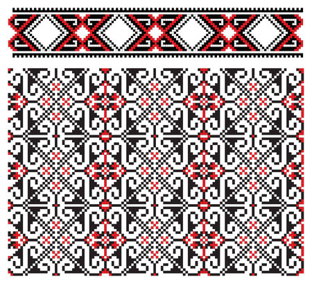 there is a scheme of ukrainian pattern for embroidery Stock Vector - 6565862