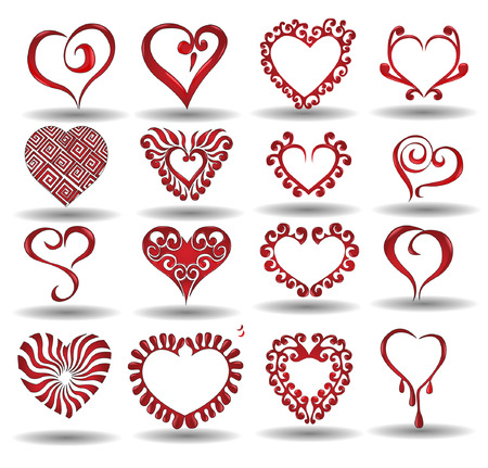 there are hearts icon Vectores