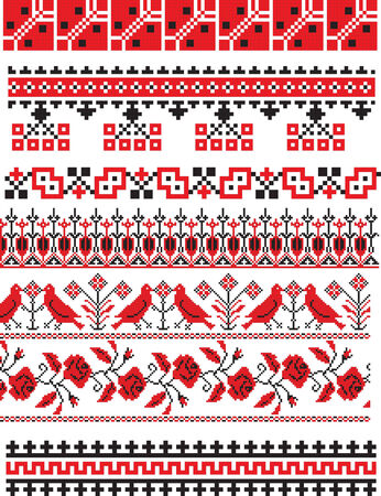 rite: there is a scheme of ukrainian pattern for embroidery