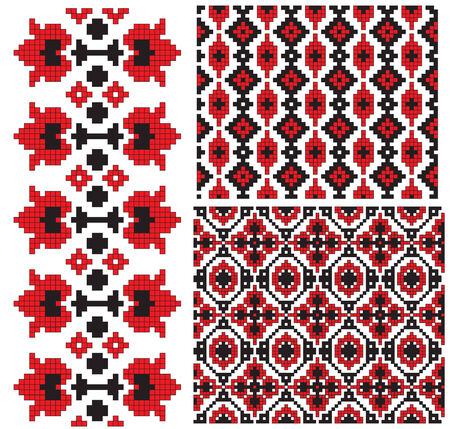 and tradition: flower texrture ukrainian embroidery