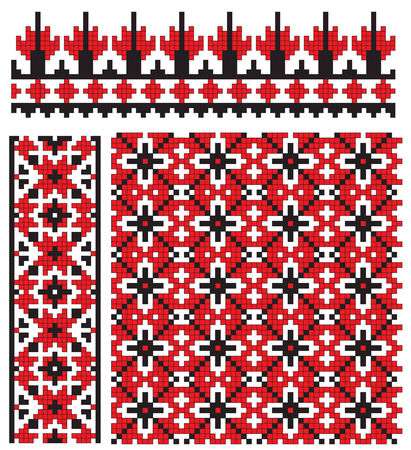 traditions: ukrainian texture embroidery Illustration