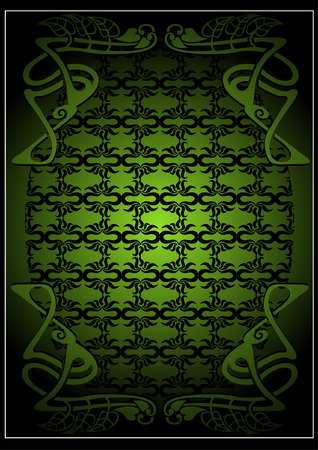 celtic symbol: irish old frame baner Illustration