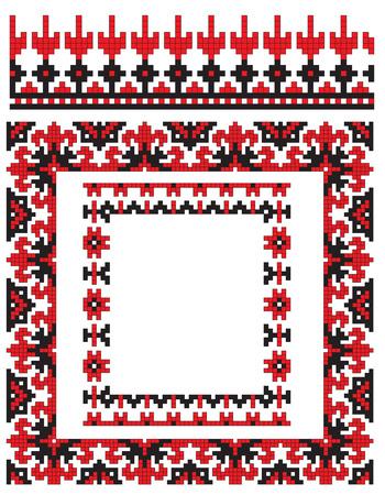 embroidery frame ukrainian Stock Vector - 6895712