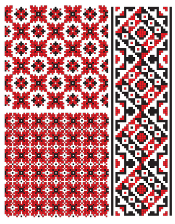 ukrainian embroidery texture pattern Vector