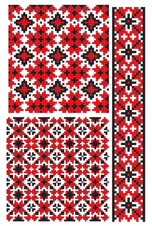 traditions: ukrainian embroidery patern textures