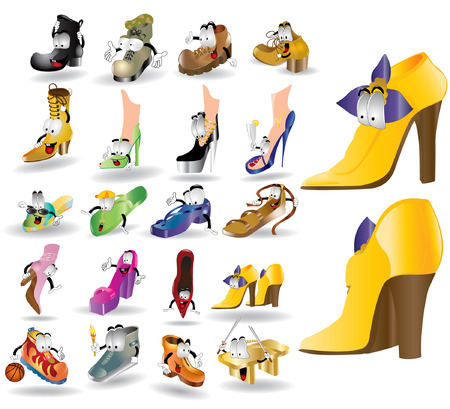 jackboot: there are many cartoon character shoes