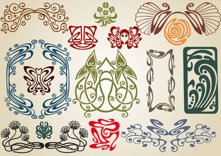 collect art nouveau Stock Vector - 7035932
