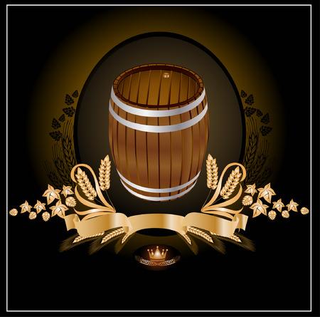 beer card: barrel kvass beer wine