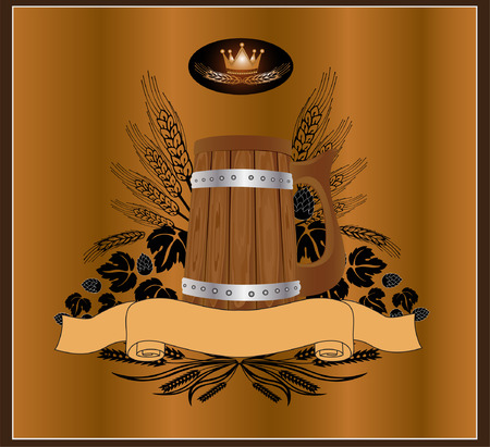beer card: beer wine kvass Illustration