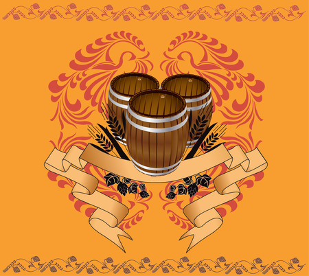 three barrel with pattern for advertising Vector