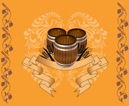 three barrel with pattern for advertising Stock Vector - 7178981