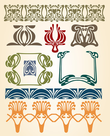 ellements: there are art nouveau plants and ellements