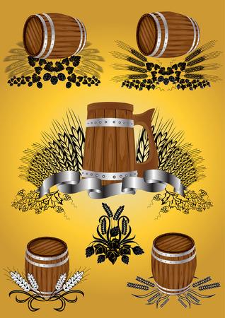 taverns: wine beer barrel collection