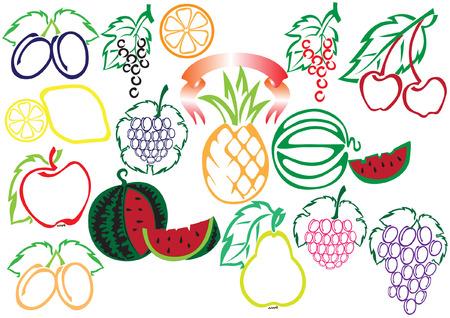 limon: big fruit collection Illustration
