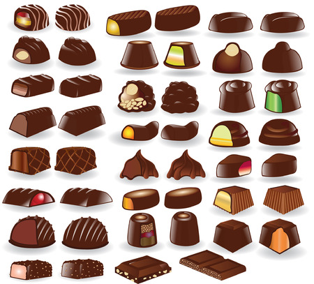 cacao: chocolate candy collection