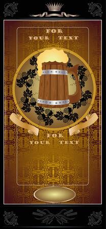 beer card: royal beer mug advertising