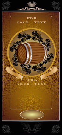 royal gold barrel Vector